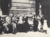 Relatives of British Soldiers Awaiting News Outside the War Office in London