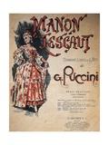 Small Calendar Illustrating Scenes from Manon Lescaut, Opera by Giacomo Puccini