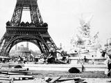 Constructing the Fountain St. Vidal Near the Eiffel Tower, Paris Exhibition, 1889