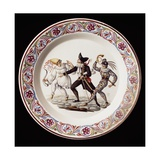 Plate Decorated with a Scene from Commedia Dell'Arte