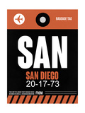 SAN San Diego Luggage Tag 3