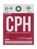 CPH Copenhagen Luggage Tag 2