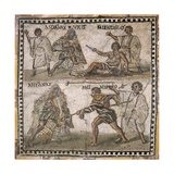 Roman Mosaic of Gladiators, 3rd C