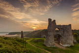Pennard Castle, Overlooking Three Cliffs Bay, Gower, Wales, United Kingdom, Europe