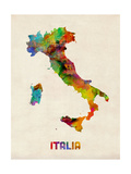 Italy Watercolor Map, Italia