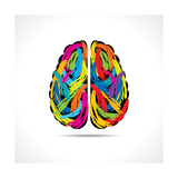 Creative Brain with Paint Strokes
