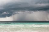 Rain Storm over the Ocean and Beach