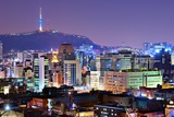 View of Seoul, South Korea at Night.