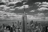 Empire State Building with Clouds-Elevated View