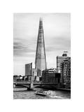 The Shard Building and The River Thames - London - UK - England - United Kingdom - Europe