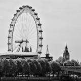 UK Landscape - Red Telephone Booth and River Thames - London - UK - England - United Kingdom