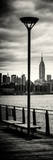 Door Posters - View of Manhattan with the Empire State Building a Jetty in Brooklyn