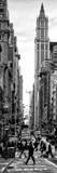 Vertical Panoramic - Door Posters - Urban Street Scene in Broadway at Sunset - Manhattan