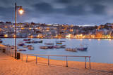St Ives Harbour and Town from the Pier at Night