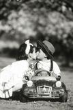Children Kiss in Toy Car