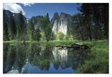 Granite reflecting in pool, Yosemite National Park, California