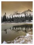 Canadian Rocky Mountains dusted in snow, Banff National Park, Alberta, Canada