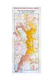 Map of the Champagne Region: the Cote Des Blancs