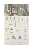 Plate Showing Shoemaker Workshop and Tools