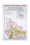 Map of the Burgundy Vineyards