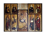Altarpiece with St Ambrose and Eight Saints, Detail, by Giovanni Barbagelata