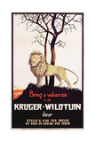 Poster Advertising the Kruger National Park, C.1930