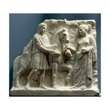 Relief Showing Scene of Outdoor Libation, 330-315 BC