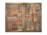 Mystical Conversation Between King Solomon and Queen of Sheba, Icon, Ethiopia