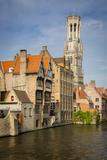 Belfry of Bruges Towers over the Buildings, Bruges, Belgium