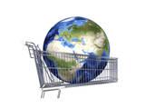 Planet Earth Inside Supermarket Trolley