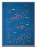 Vintage Snowshoe Blueprint