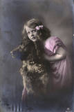 Studio Portrait, Little Girl with Large Dog