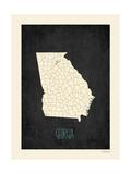 Black Map Georgia