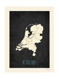 Black Map Netherlands