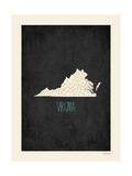 Black Map Virginia