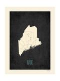 Black Map Maine