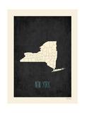 Black Map New York