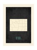 Black Map Wyoming