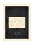 Black Map Colorado