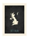 Black Map United Kingdom