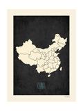 Black Map China
