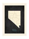 Black Map Nevada