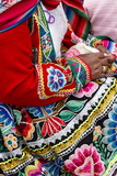 Detail of a Traditional Quechua Dress, Cuzco, Peru, South America