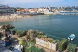 Cascais Pier and Beach, Cascais, Lisbon Coast, Portugal, Europe