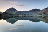Reflection of Mountains in the Lake, Buttermere Lake, English Lake District, Cumbria, England