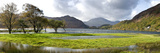 Lake with Mountains in the Background, Llyn Dinas, Snowdonia National Park, Wales