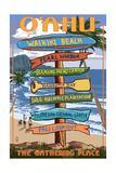 Waikiki Beach, Oahu, Hawaii - Sign Destinations