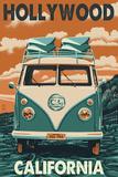 Hollywood, California - VW Van