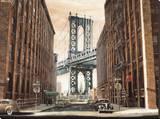 View to the Manhattan Bridge, New York City