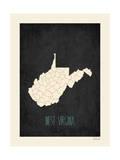 Black Map West Virginia